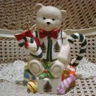 PRETTY CHRISTMAS BEAR TEAPOT ***NEW*** ***SO CUTE***