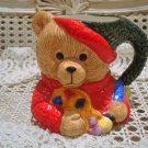 ARTIST TEDDY BEAR CERAMIC CHRISTMAS MUG ***SO CUTE*** NEW