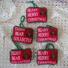 TEDDY BEAR COLLECTOR & BEARY CHRISTMAS BEAR PILLOWS CHRISTMAS ORNAMENTS **NEW**
