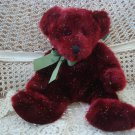 "RUSS BERRIE SPANGLES 14"" TALL HOLIDAY BEAR WITH FESTIVE OPALESCENT FUR *SO CUTE*"