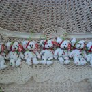 7 RETIRED TY JINGLE BEANIES RED GREEN HOLLY BEAR CHRISTMAS ORNAMENTS **SO CUTE**