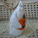 MIDWEST OF CANNON FALLS EDDIE WALKER GHOST HOLDING PUMPKIN HALLOWEEN FIGURINE