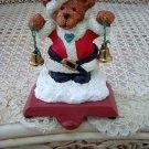 HOLLY BEARIES RETIRED CHRISTMAS SANTA BEAR STOCKING HANGER  *NEW* SO CUTE