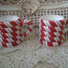 SET OF 2 CHRISTMAS PEPPERMINT CANDY CERAMIC MUGS ***SO CUTE***