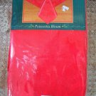"""GORGEOUS POINSETTIA RED CHRISTMAS FABRIC TABLECLOTH 90"""" ROUND *NEW IN PACKAGE*"""