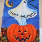 WHIMSICAL TOLAND HAPPY HALLOWEEN GHOST IN PUMPKIN FLAG ****SO CUTE****