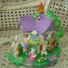 EASTER VILLAGE HOUSE SCHOOL WITH BUNNIES **SO CUTE**