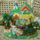 EASTER VILLAGE HOUSE EASTER EGG HUNT TODAY WITH BUNNIES HOUSE **SO CUTE**
