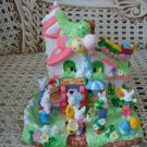 ADORABLE TOY SHOP EASTER VILLAGE HOUSE WITH BUNNIES **SO CUTE**
