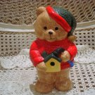 ADORABLE CHRISTMAS TEDDY BEAR CERAMIC KITCHEN GADGET HOLDER **SO CUTE** NEW