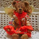 LARGE ANGEL TEDDY BEAR CHRISTMAS ORNAMENT  *NEW*