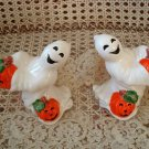 FITZ & FLOYD RETIRED HALLOWEEN GHOSTS WITH PUMPKINS CANDLEHOLDERS ***SO CUTE***