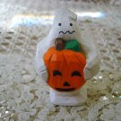 RARE MIDWEST of CANNON FALLS  MINI GHOST HOLDING PUMPKIN FIGURINE ***SO CUTE***