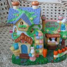 ADORABLE EASTER VILLAGE HOUSE WITH BUNNIES **SO CUTE**