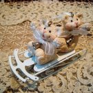 SNOW BEARIES RETIRED BEAR ORNAMENTS ON METAL SLED CHRISTMAS ORNAMENTS *NEW*