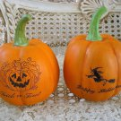 SET OF 2 HALLOWEEN FAUX PUMPKINS ***SO CUTE***
