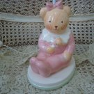 CHARPENTE PINK TEDDYBEAR CERAMIC LAMP *WONDERFUL FOR BABY OR LITTLE GIRL'S ROOM*