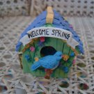 MIDWEST OF CANNON FALLS EASTER SPRING BIRDHOUSE *OPENS TO REVEAL INSIDE SCENE*