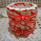 HALLMARK CHRISTMAS PEPPERMINT STRIPED VOTIVE CANDLE HOLDER **NEW*** RETIRED