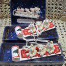 SNOW BEARIES 3 RETIRED BEARS ON SLEDS CHRISTMAS ORNAMENTS **NEW**