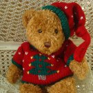 "ADORABLE 15"" TALL BEAR IN CHRISTMAS TREE SWEATER ***SO CUTE*** NEW"