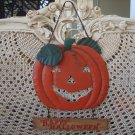 MIDWEST OF CANNON FALLS RETIRED & RARE HAPPY HALLOWEEN METAL PUMPKIN SIGN *NEW*