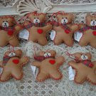 HALLMARK SET OF 7 RETIRED TEDDY BEAR CHRISTMAS ORNAMENTS ***SO CUTE***