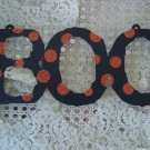 "AWESOME LARGE METAL BOO GLITTER SIGN 13"" LONG ***HALLOWEEN DECOR***"