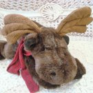 "RUSS BERRIE GUSTO LARGE 15"" LONG MOOSE STUFFED ANIMAL ***ADORABLE** NEW"