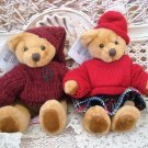 "RUSS BERRIE SET OF TWO ADORABLE 6"" TALL BENJI BEARS ***NEW****"