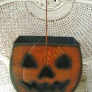 LARGE SHABBY VINTAGE INSPIRED CRACKLE METAL PUMPKIN LUMINARY HALLOWEEN ***ADD LIGHTS***