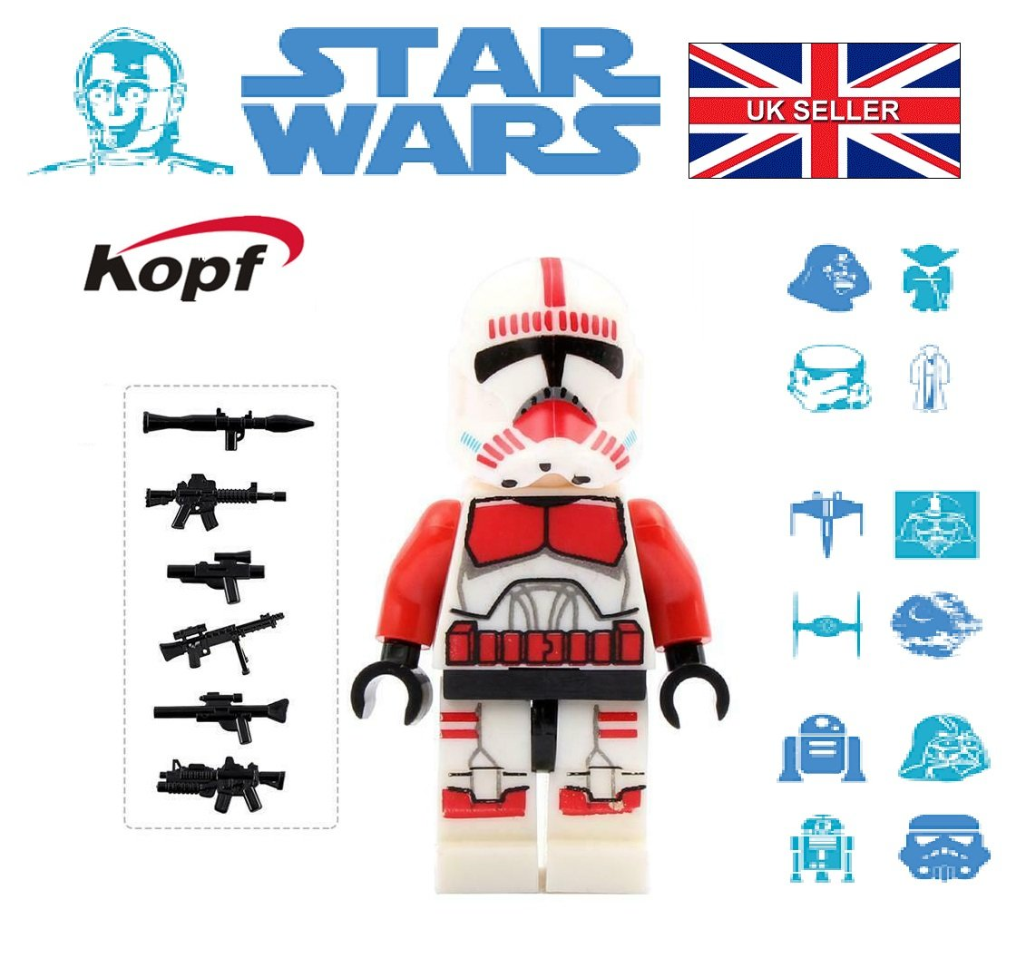 Star Wars Red Trooper Rex Clone Mini figure Mini-Fig