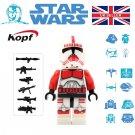 Star Wars Red Trooper Rex Clone Mini figure Mini-Fig
