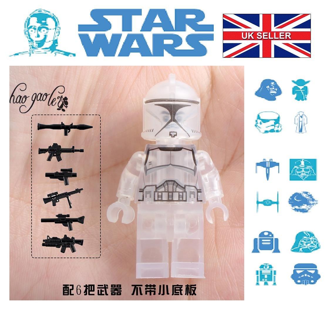 Star Wars Clear Trooper Rex Clone Mini figure Mini-Fig