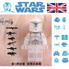 Star Wars Clear Trooper Rex Clone Mini figure Mini-Fig