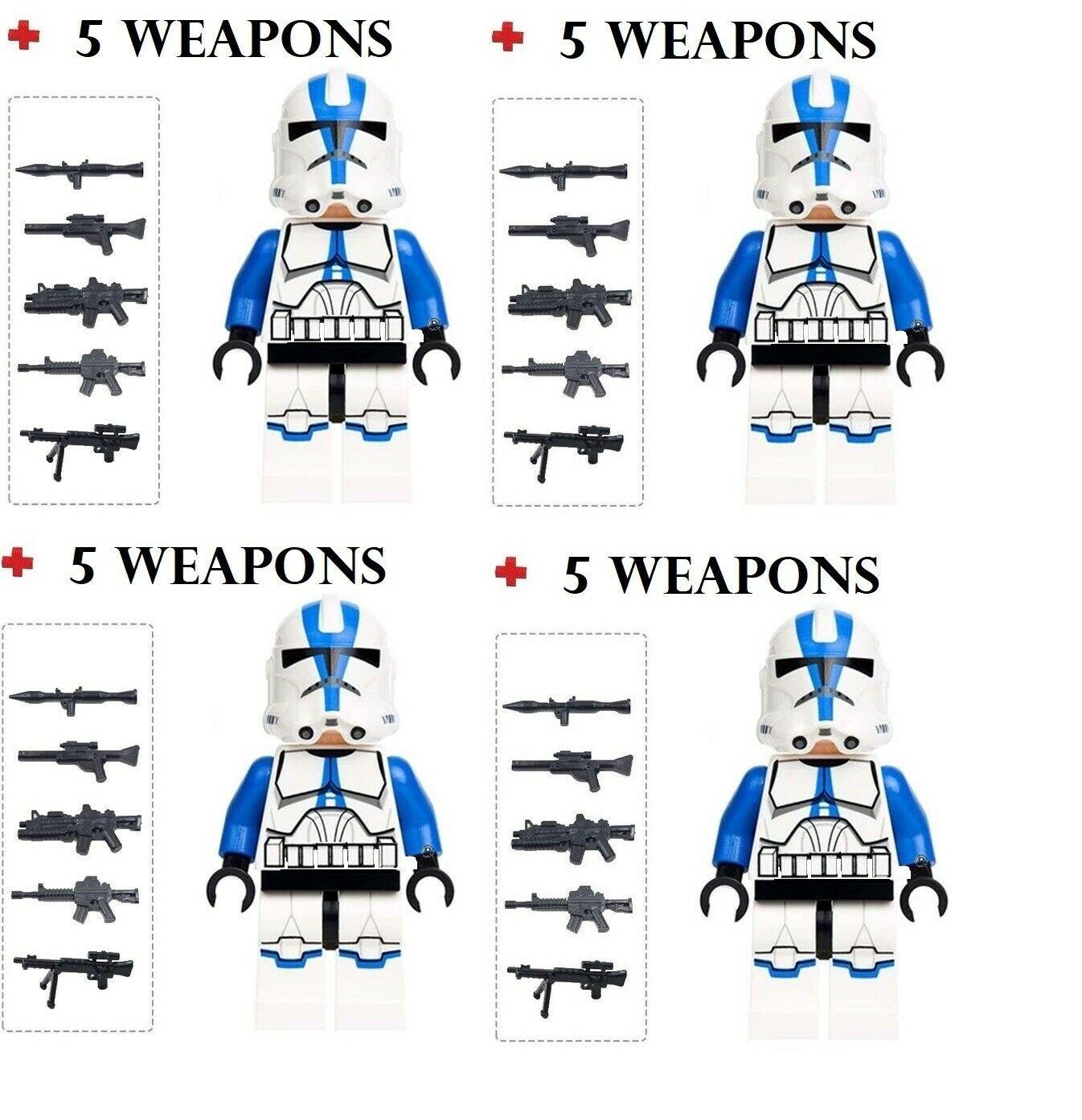 Star Wars 4 X 51St Trooper Rex Clone Mini figure Mini-Fig Set