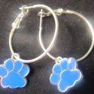 Blanchester wildcat hoop earrings