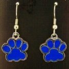 Wildcat Blue Paw print Earrings