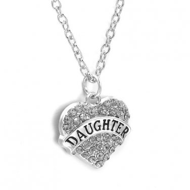 Clear CZ Daughter necklace with chain !