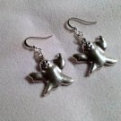 Ghost  Handmade dangle earrings