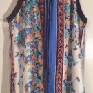 Allen B  Butterfly Hanker chief Scarf Dress Size 14