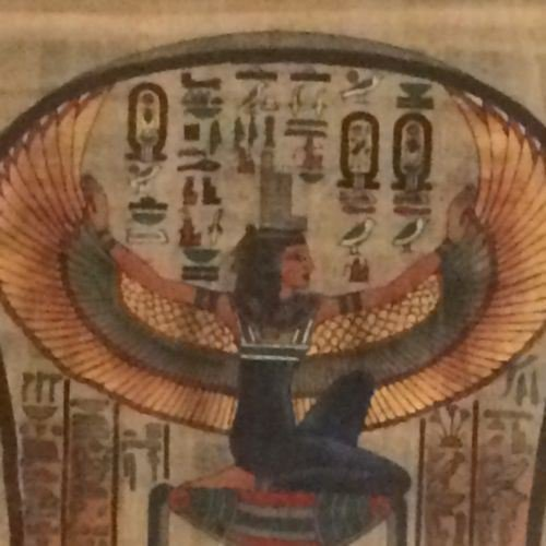 egyptian original papyrus from Egypt Signed