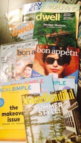 Lot 12 Magazines Real Simple House Beautiful Travel$leisure Housebeautiful Dwell