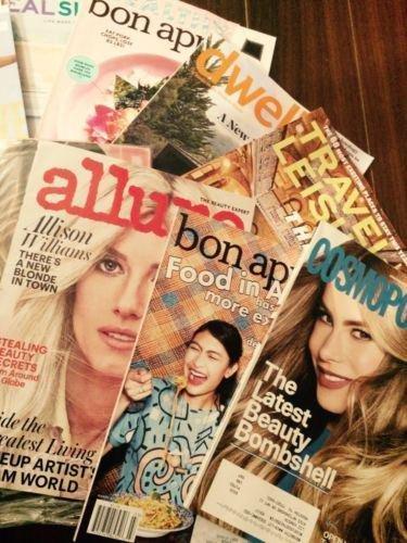 Lot 15 Women's Mag  2017 Dwell-bon Appetite-Allure-Cosmo-Bazaar-Self-MarieClaire