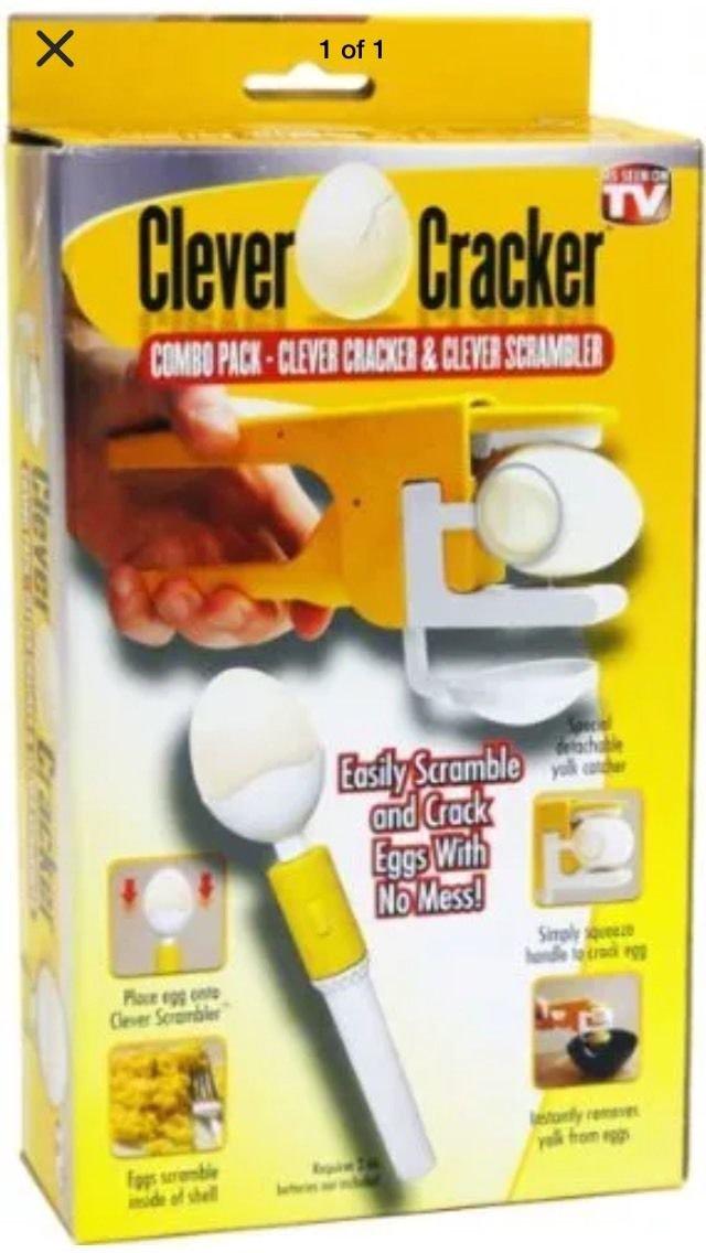 Clever Egg Cracker and Clever Scrambler