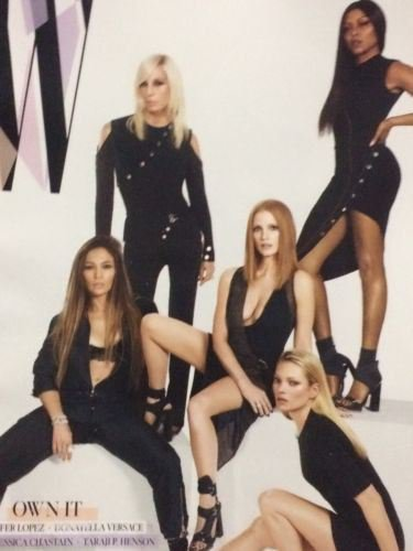 Jennifer Lopez ,Jessica Chastain  Kate Moss, Donatello W MAGAZINE MARCH 2017 NEW