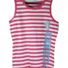 The Children's Place Kids Girl's Pink Stripe Cheer Tank Top X-Large