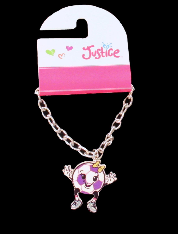 Justice Girls Soccer Ball Sport Figure Charm Fashion Bracelet