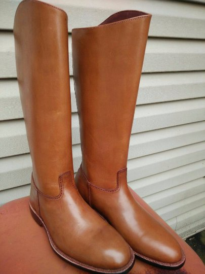 beautiful handmade custom Tan Riding Boots top quality leather