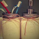 2-Piece Mason Jar Bathroom Set (toothbrush & soap)